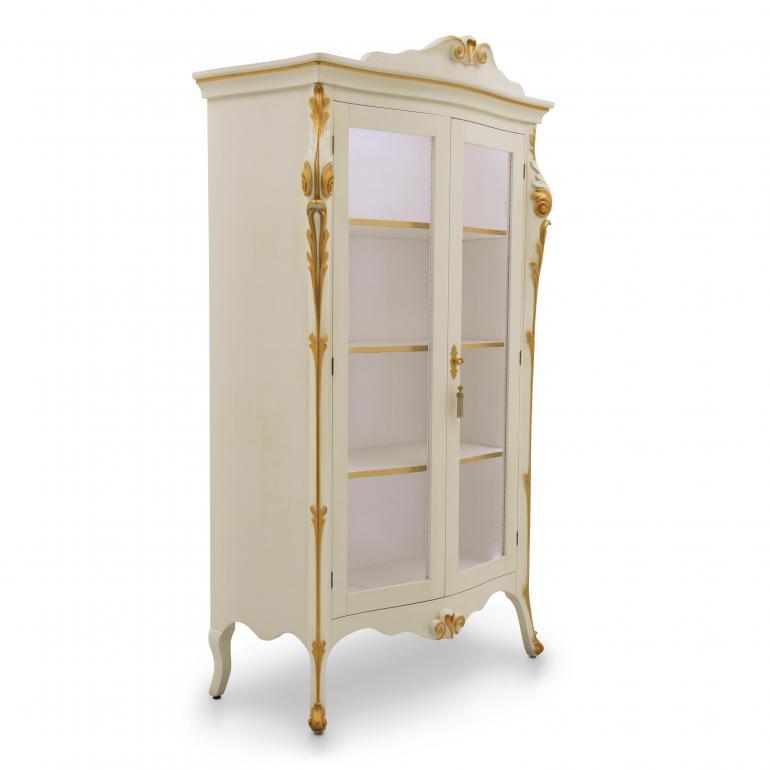 1042 classic style wood glass cupboard aura b4