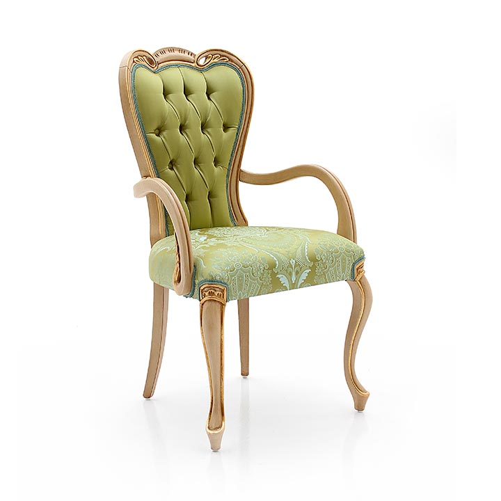 12 classic style wood armchair angelo