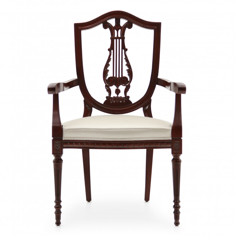 1341 classic style wood armchair violino c2