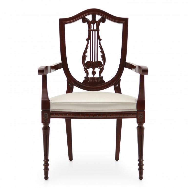 1341 classic style wood armchair violino c2