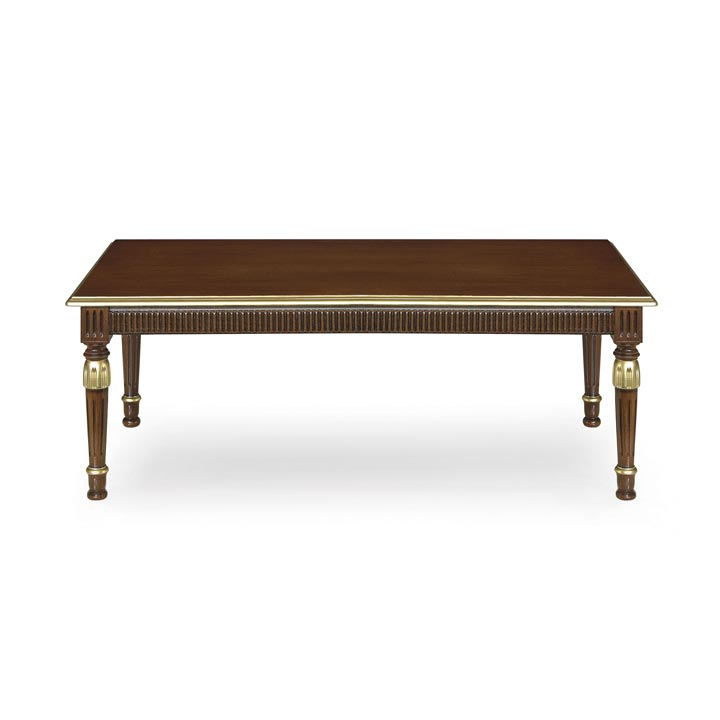 Empire style low rectangular table made of wood.