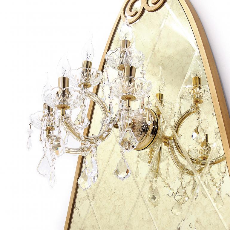 15 classic style applique glass lamp sette