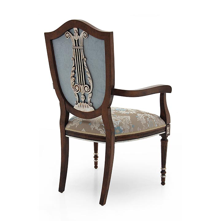 182 classic style wood armchair violino b4