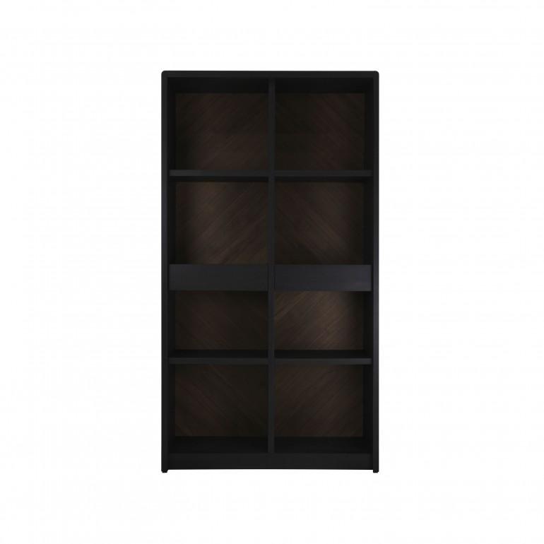 libreria struttura legno stile contemporaneo