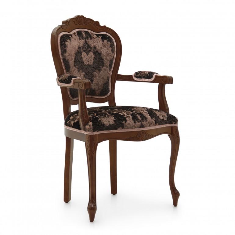 2064 classic style wood armchair miledi2
