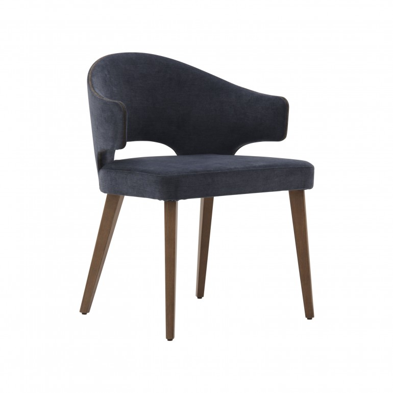 modern style wooden small armchair
