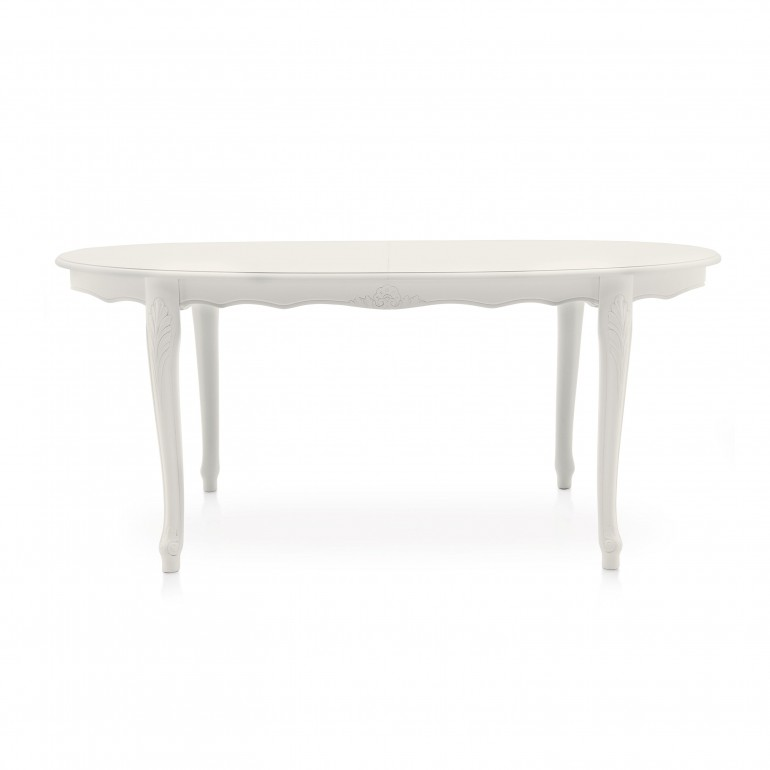 oval lacquered wooden table
