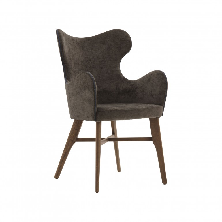 2204 modern style wood armchair auribus