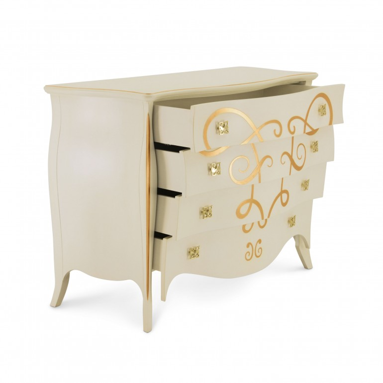 229 classic style wood chest butterfly4