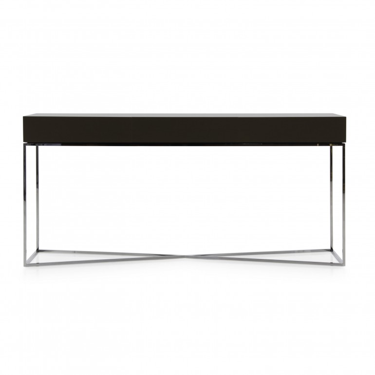 Italian contemporary consolle - modern 3 drawers consolle - Italian consolle with chromed metal base