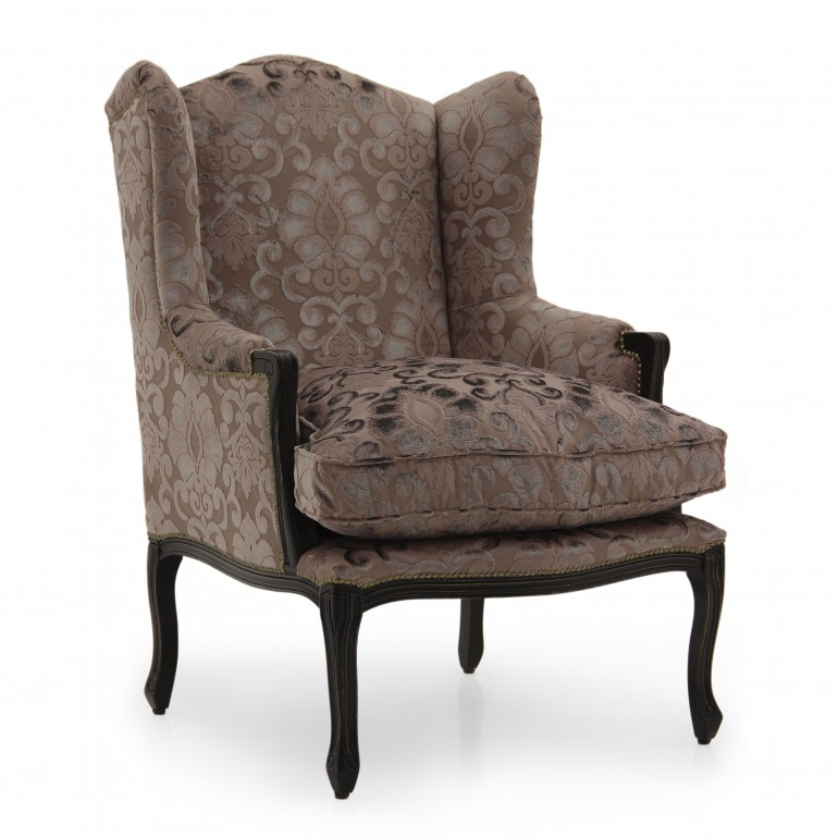 Classic Style Armchair Made of Wood Doyle | Sevensedie