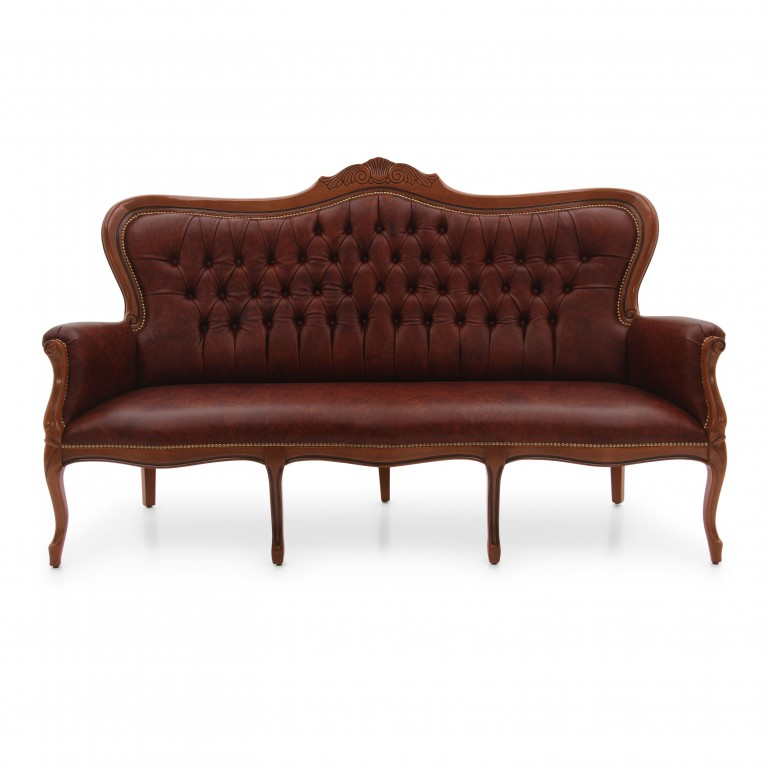 louis philippe style wooden sofa
