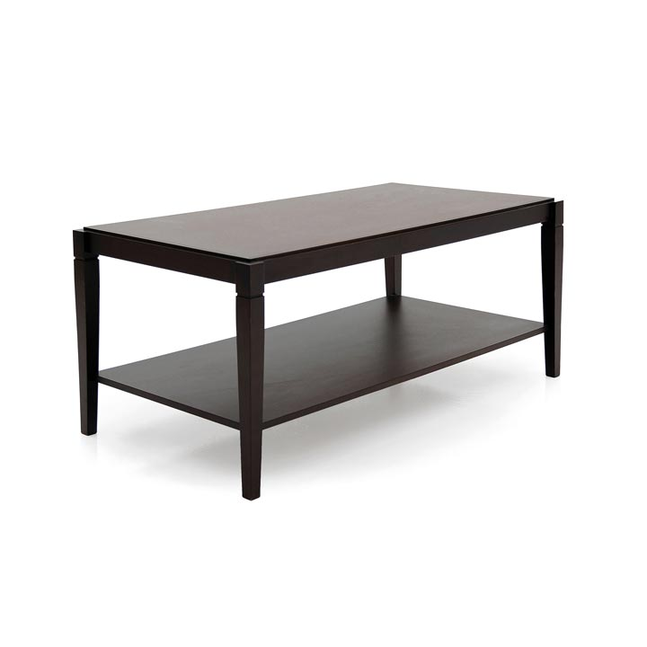 wooden low rectangular table