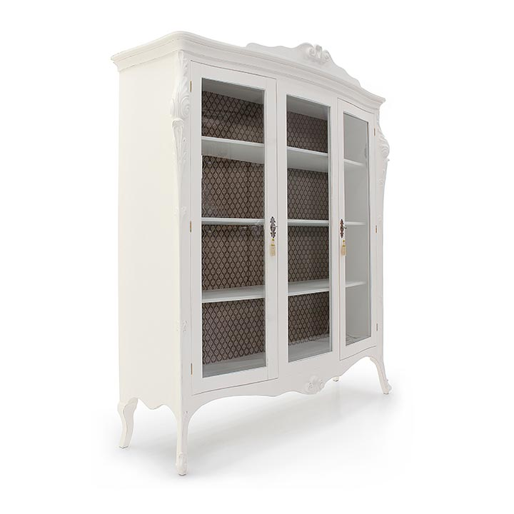 305 classic style wood glass cupboard aura3
