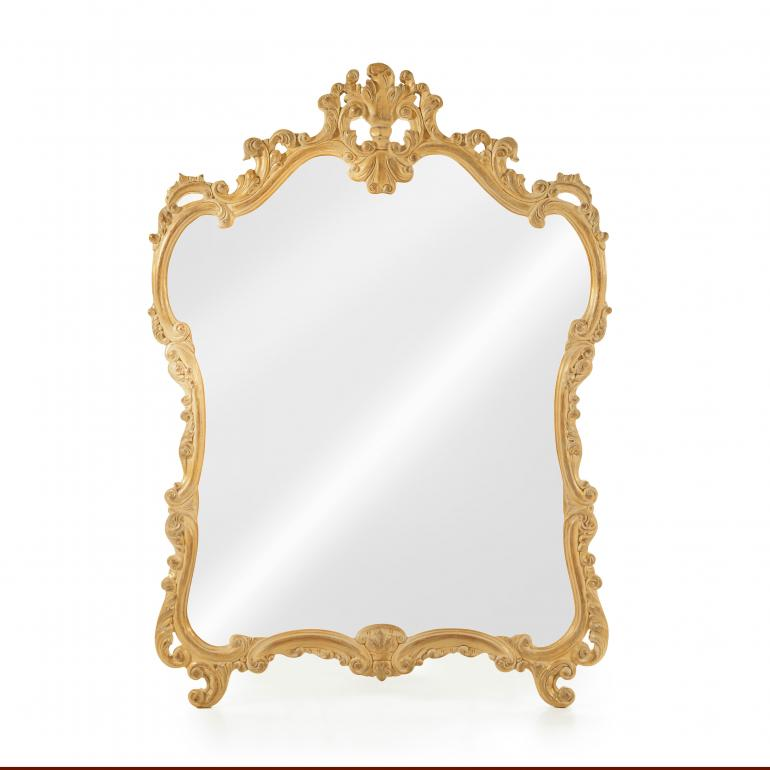 3198 baroque style wood mirror leontide