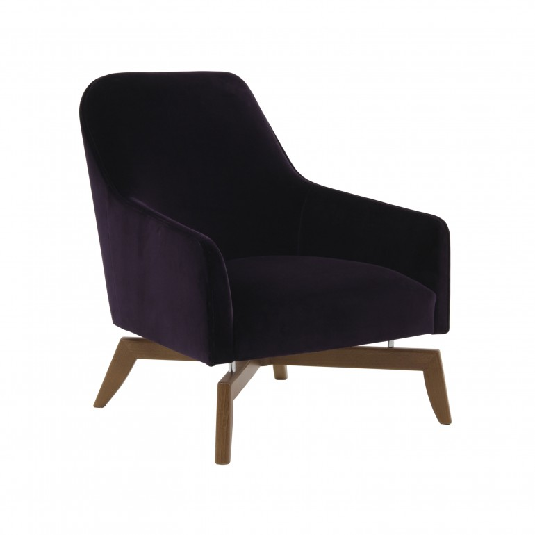 3202 modern style wood armchair alessia