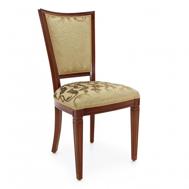 Classic hotel chair Praga by Sevensedie - beech wood frame, polished. padded back, upholstered