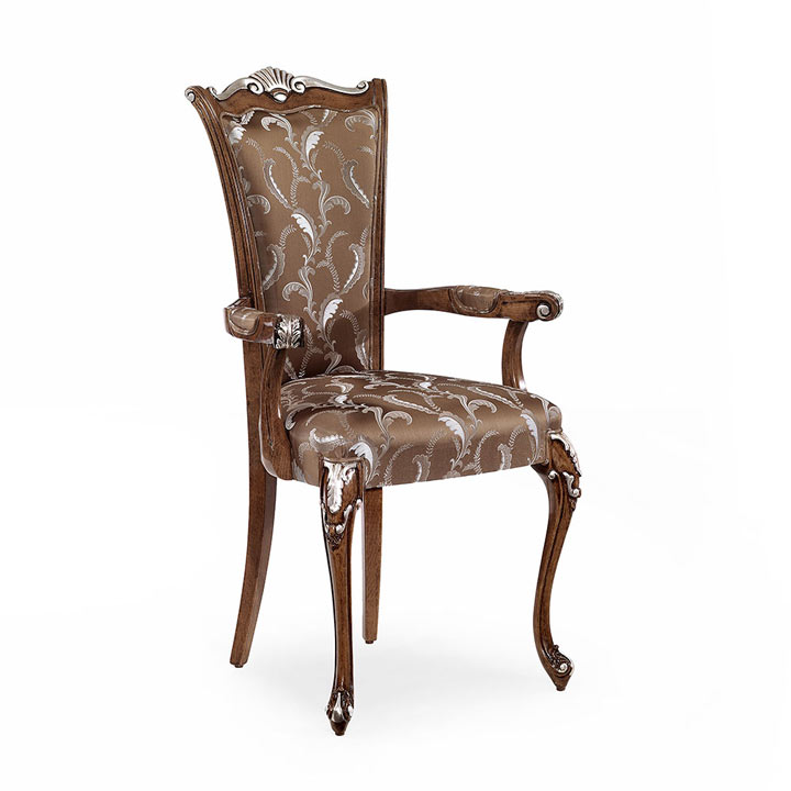 33 classic style wood armchair chiara
