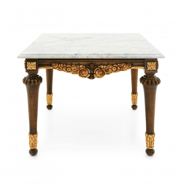 baroque style wooden lamp table