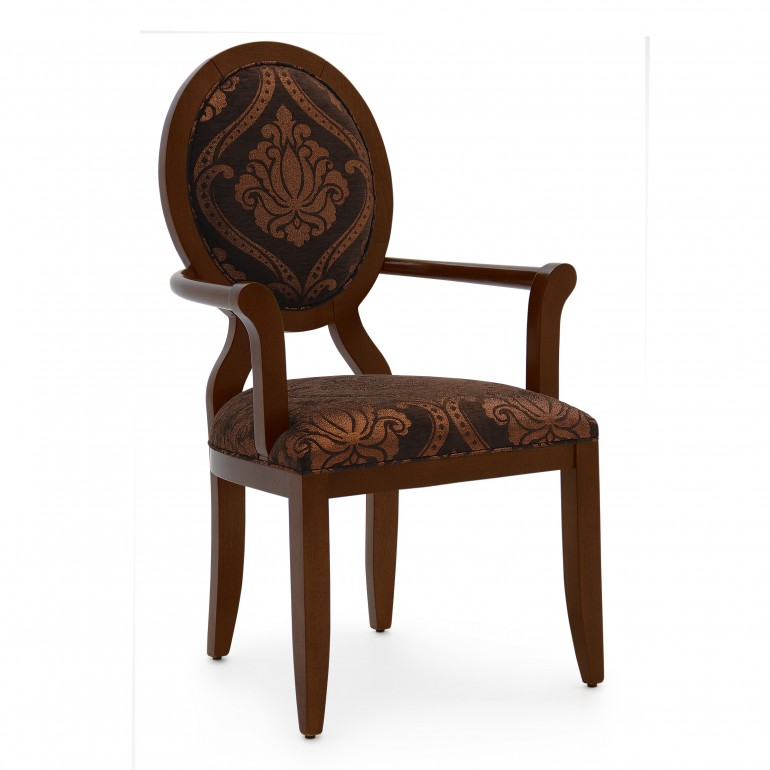 3408 modern style wood armchair anello b
