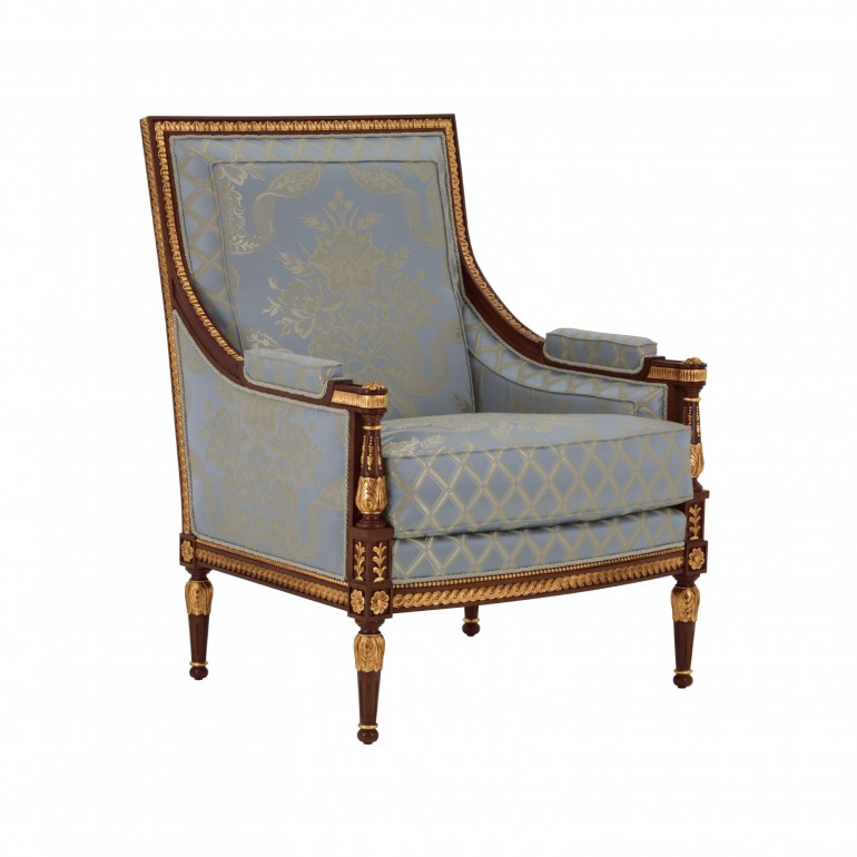 3536 classic style wood armchair lusso