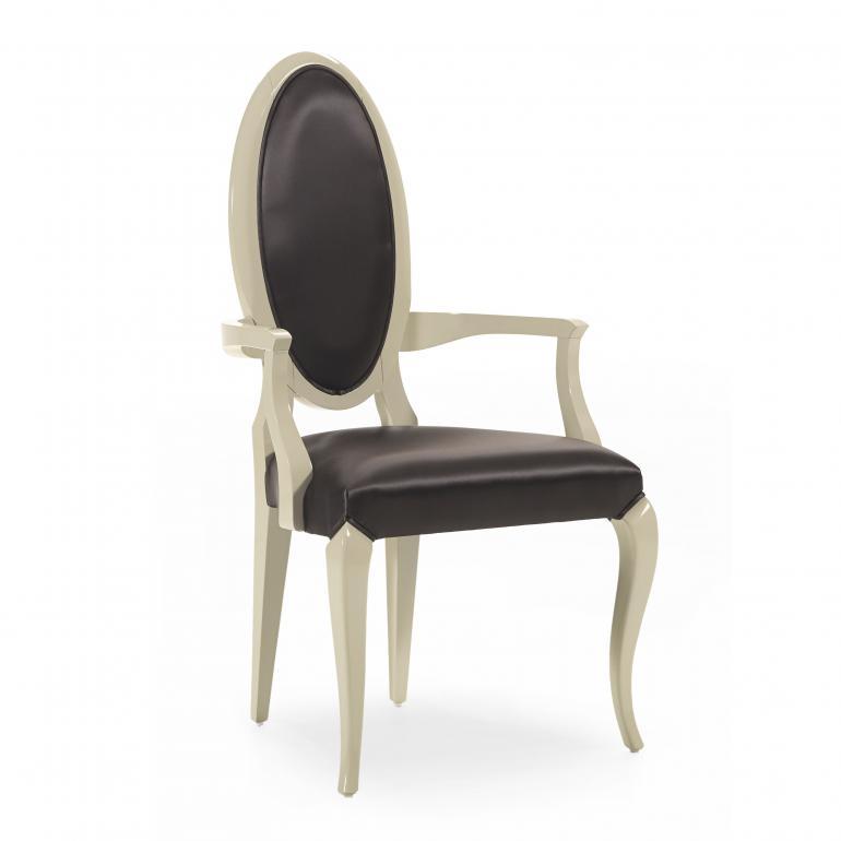 3548 modern style wood armchair capriccio