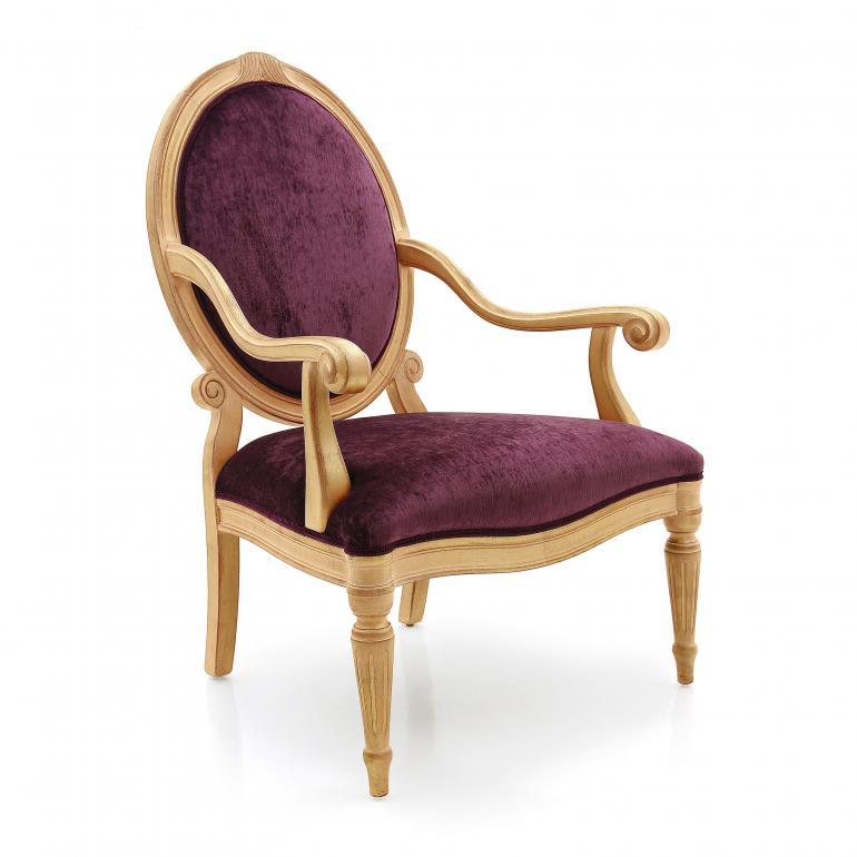 3722 classic style wood armchair spagnola