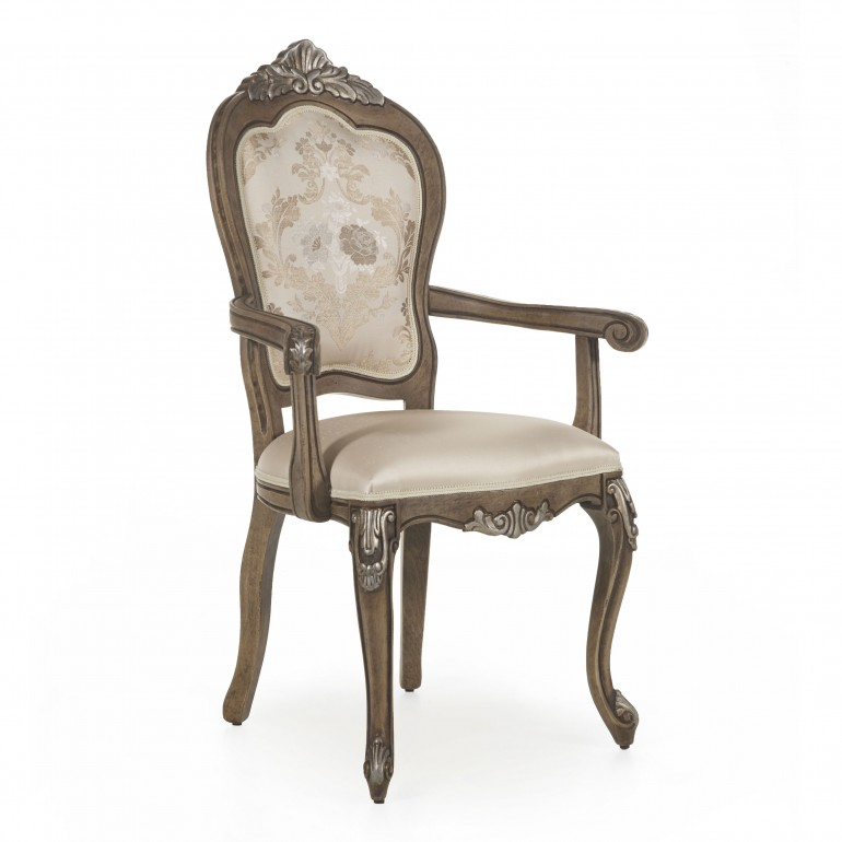 3734 classic style wood armchair cresta