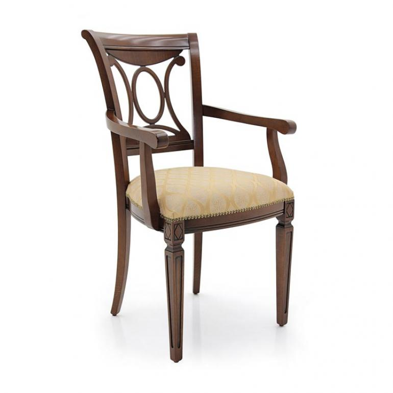 3737 classic style wood armchair archetto2