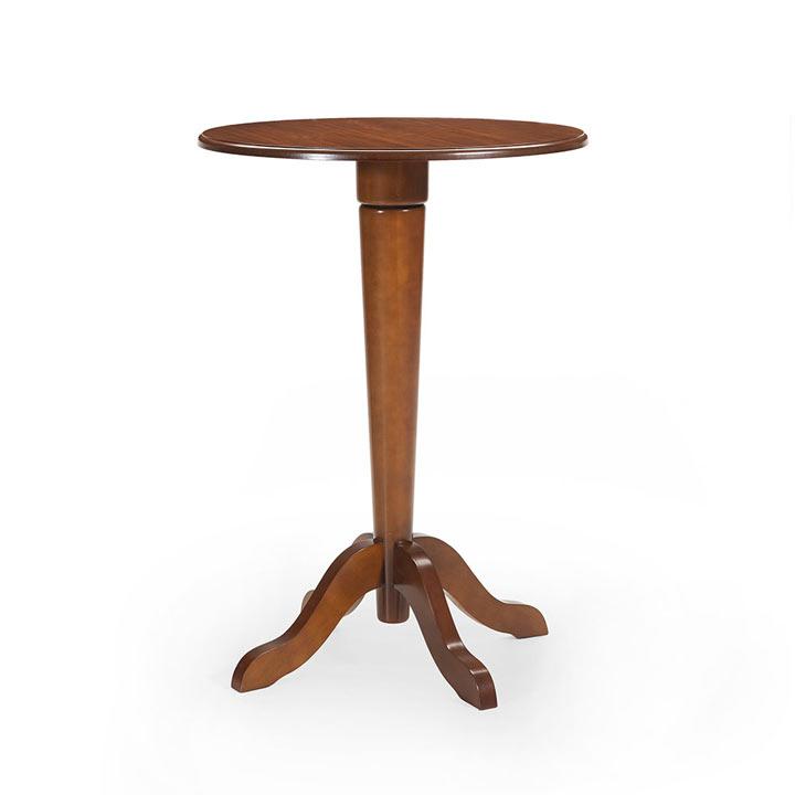 4 classic style wood tall table amerigo