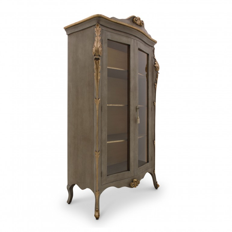 4000 classic style wood glass cupboard aura b8
