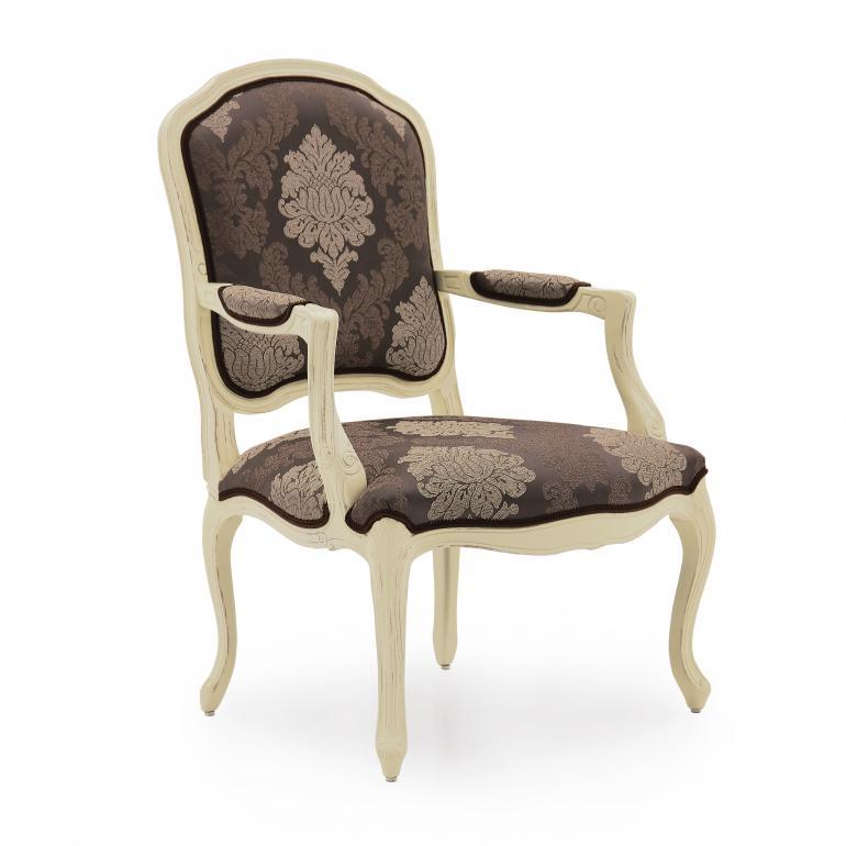 4056 classic style wood armchair teseo
