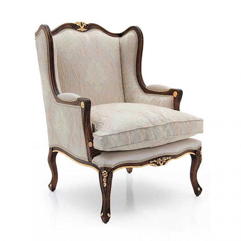 bergère style wooden armchair