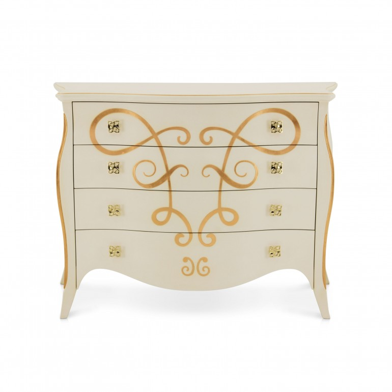4129 classic style wood chest butterfly2