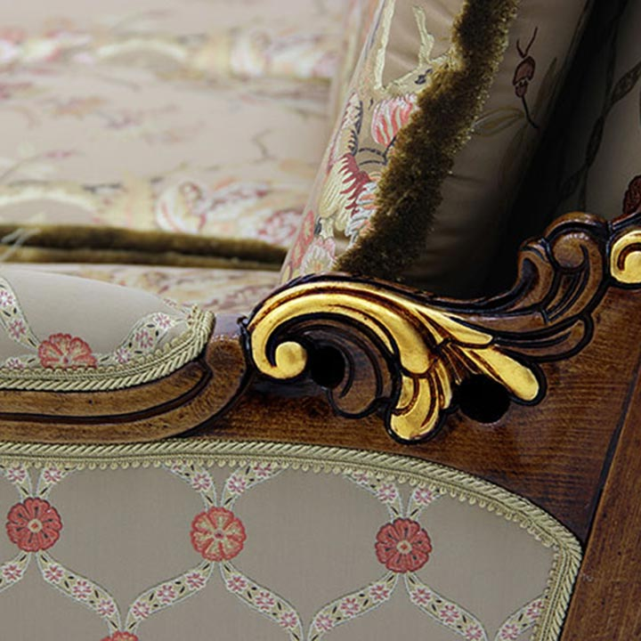 426 baroque style wood sofa giove6