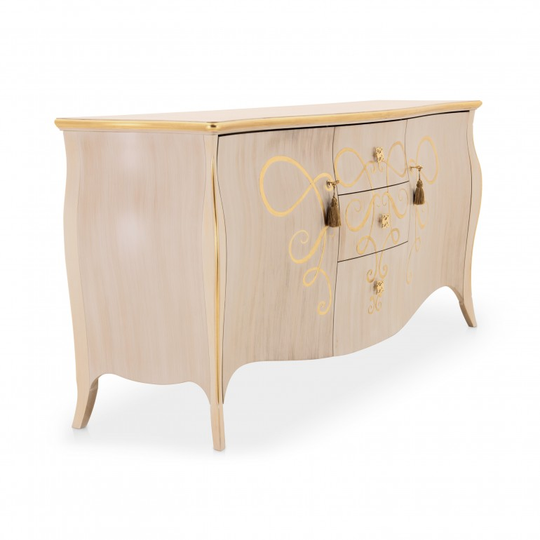 4392 classic style wood sideboard butterfly b4