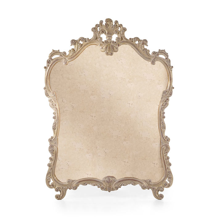44 baroque style wood mirror leontide