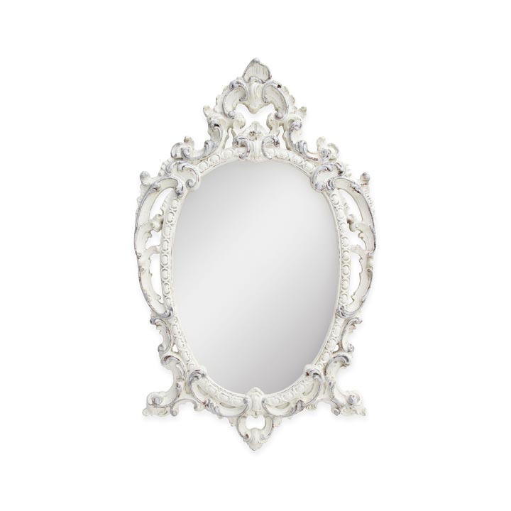44 baroque style wood mirror regina