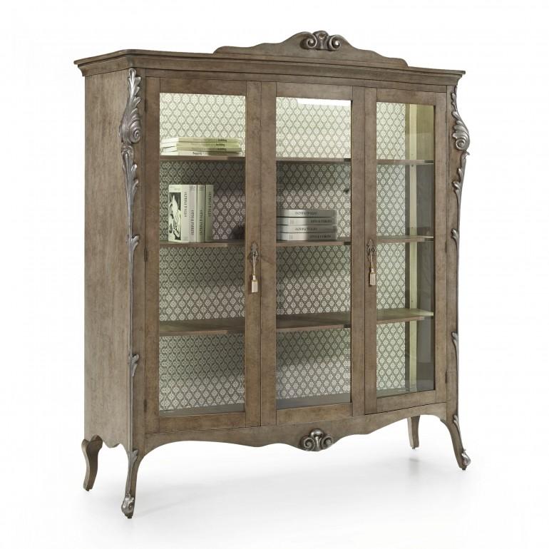 venetian style wooden display cabinet