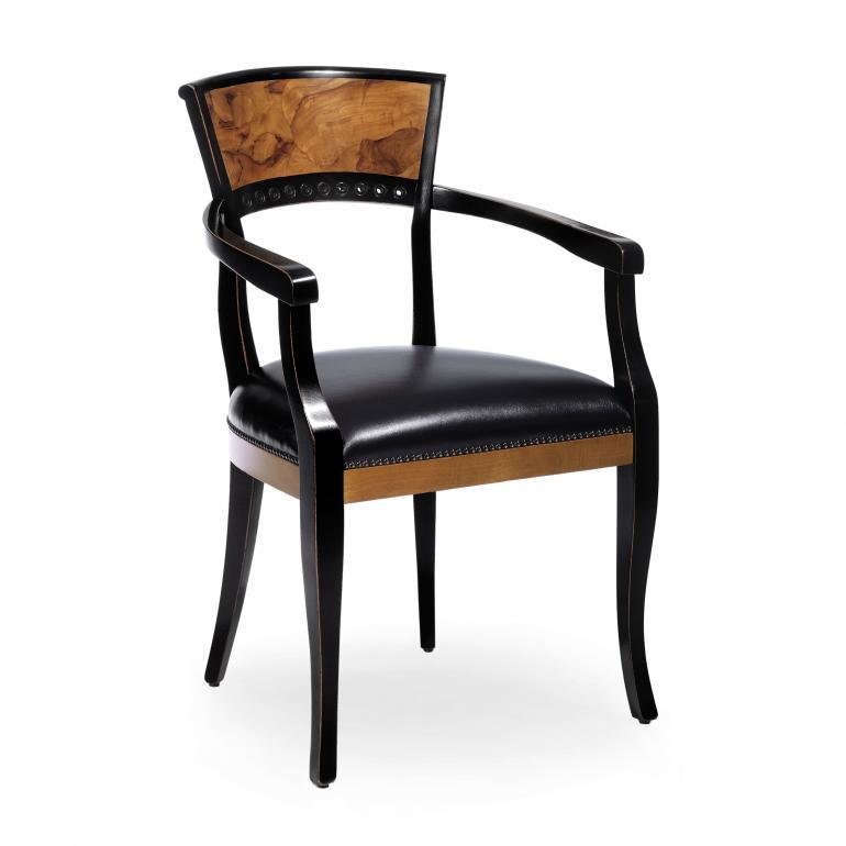 4684 classic style wood armchair radica