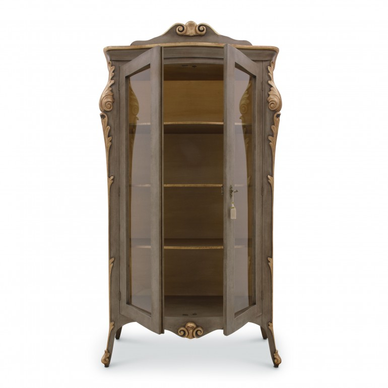 4720 classic style wood glass cupboard aura b7