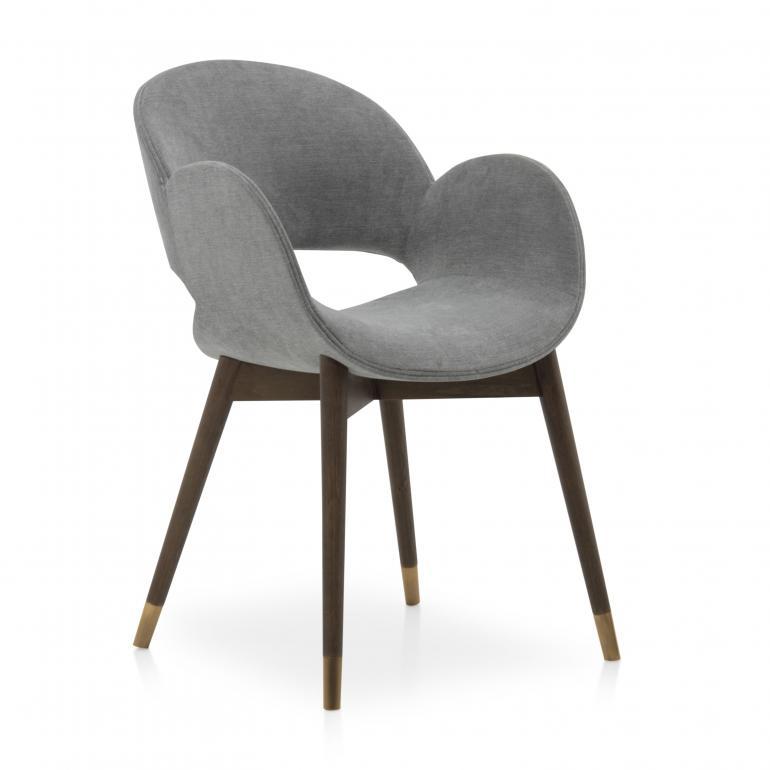 4779 modern style wood armchair mina