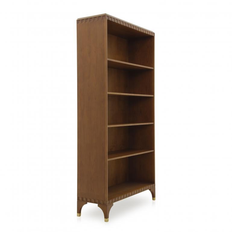 4813 modern style wood bookcase ellipse c2