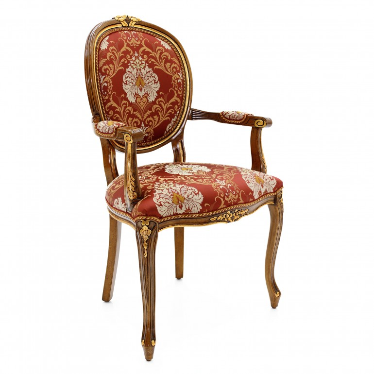 classic style wooden small armchair