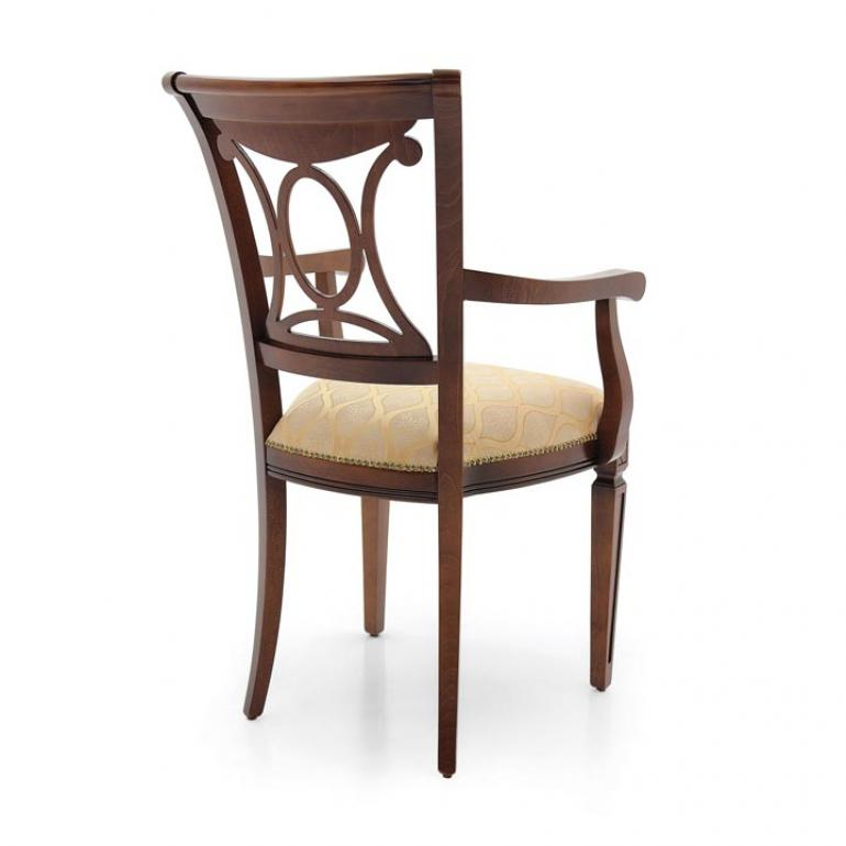 4869 classic style wood armchair archetto3
