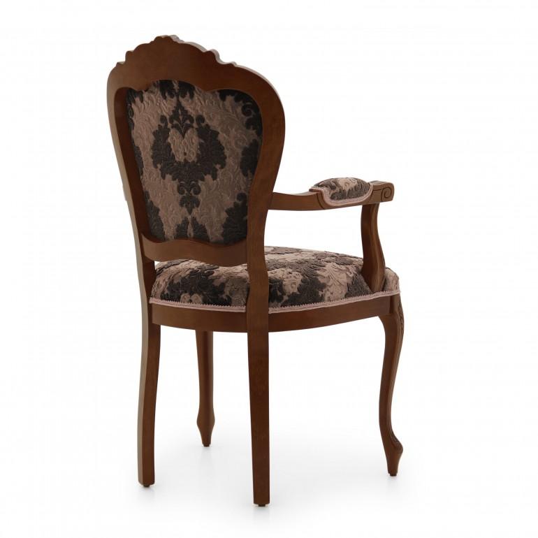 4978 classic style wood armchair miledi4