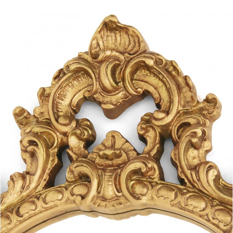 4995 baroque style wood mirror regina2