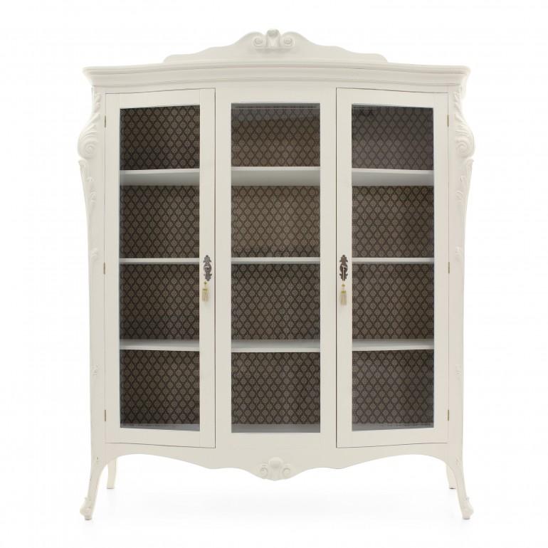 5091 classic style wood glass cupboard aura4