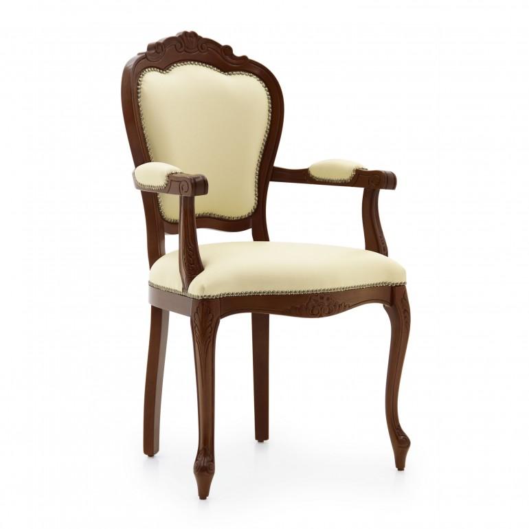 5180 classic style wood armchair miledi
