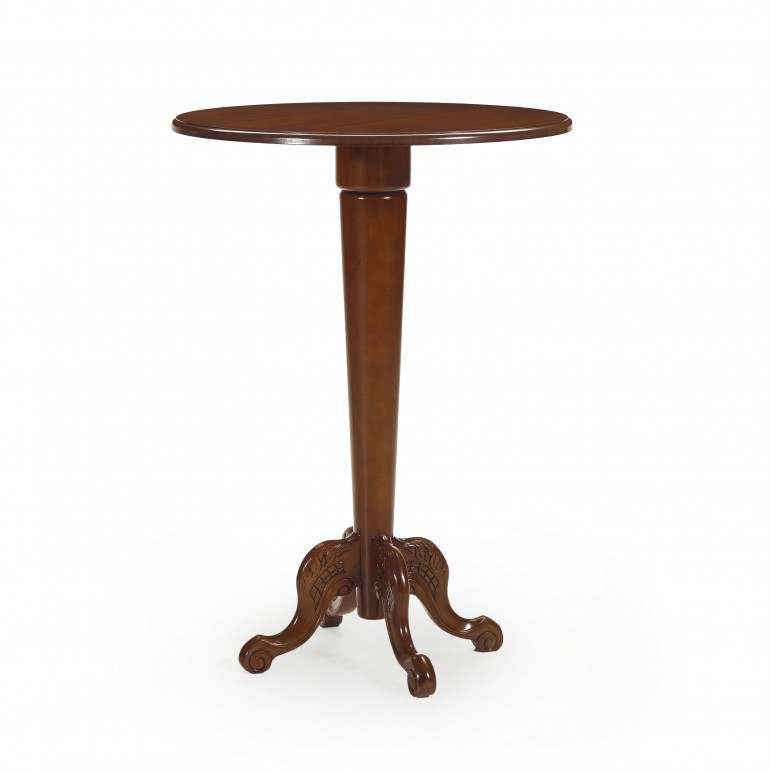 5298 classic style wood tall table amedeo
